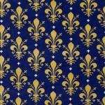 144 Flor-Lilie-gold-auf-blau